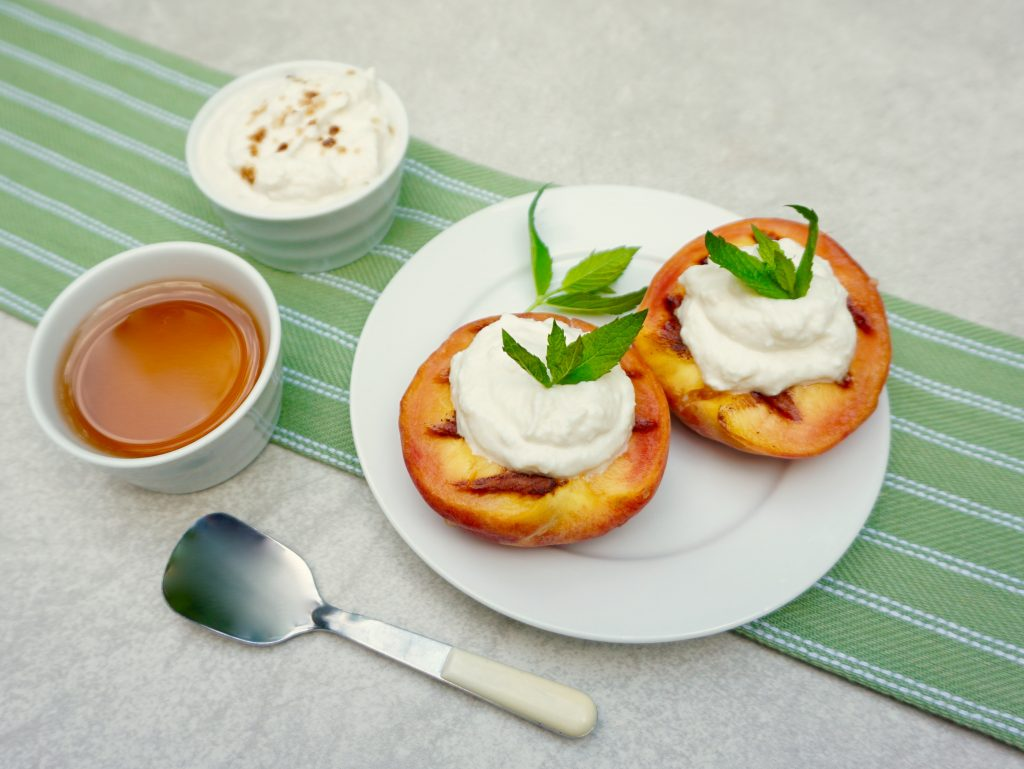 Honey Ricotta Grilled Peaches