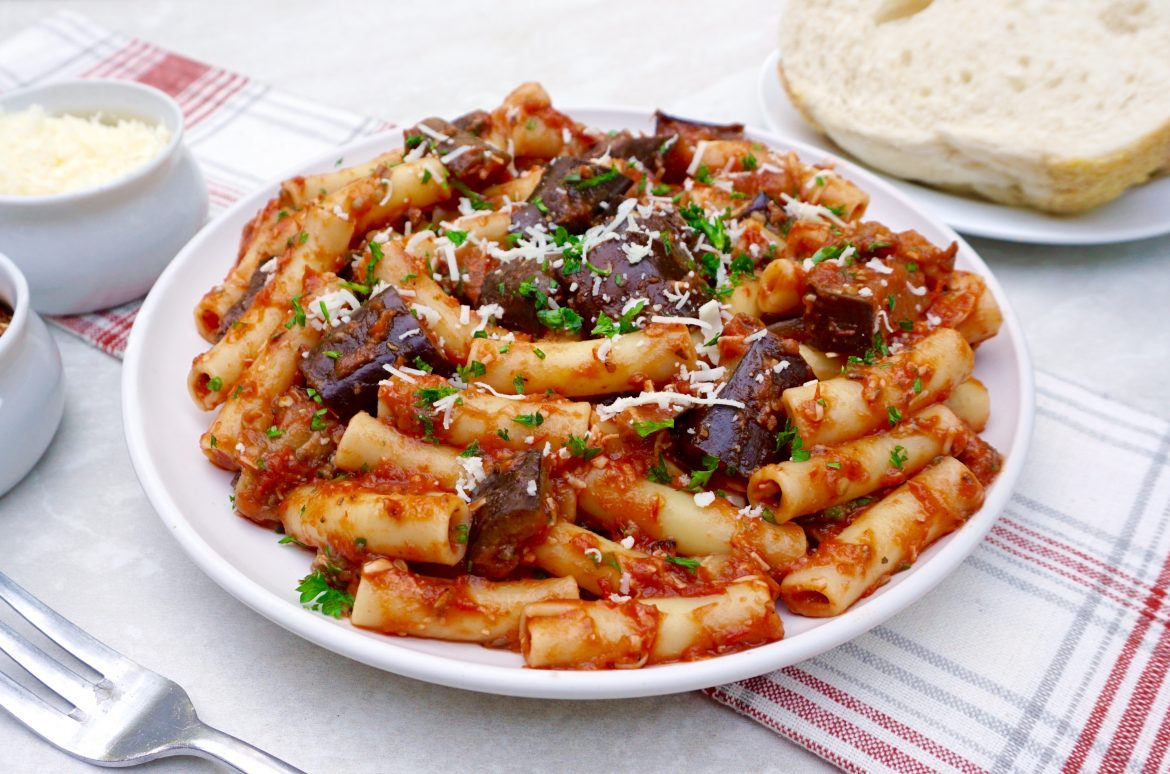 Roasted Eggplant Ziti
