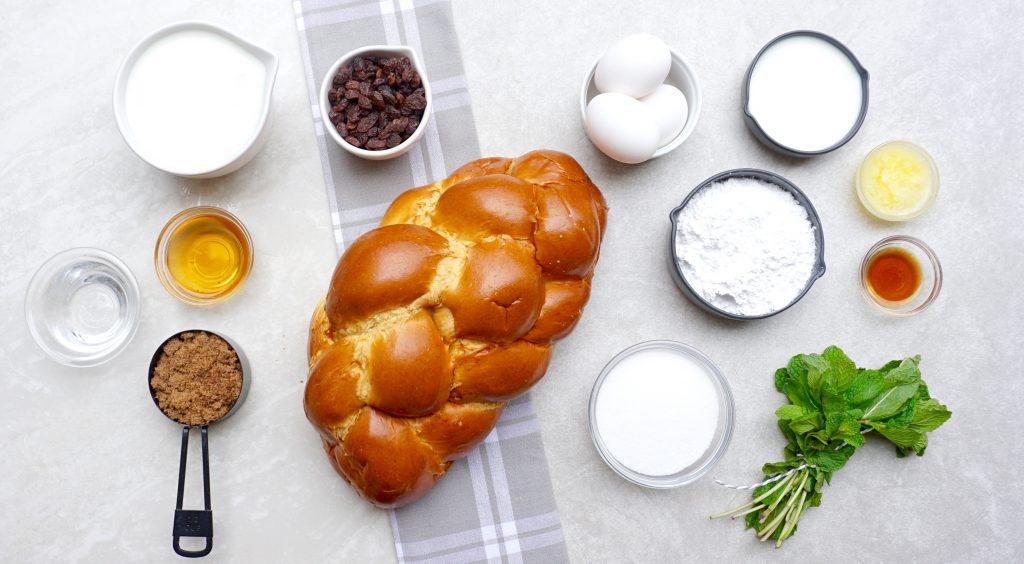 Mint Julep Bread Pudding