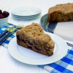 Cherry Blueberry Crumble Cake