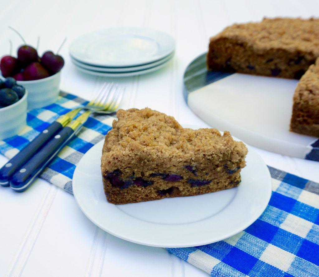 Cherry Blueberry Crumble Cake