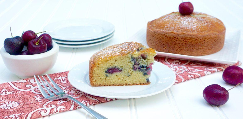 Cherry Olive Oil Cake