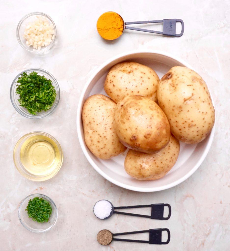 Herb Roasted Turmeric Potatoes