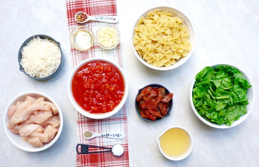 Tomato Chicken Bowtie Pasta