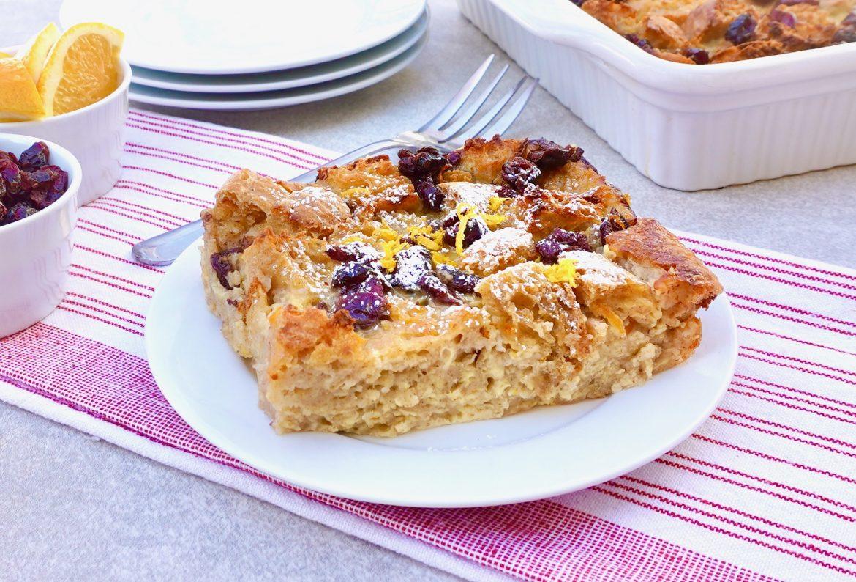 Cranberry Orange French Toast Bake