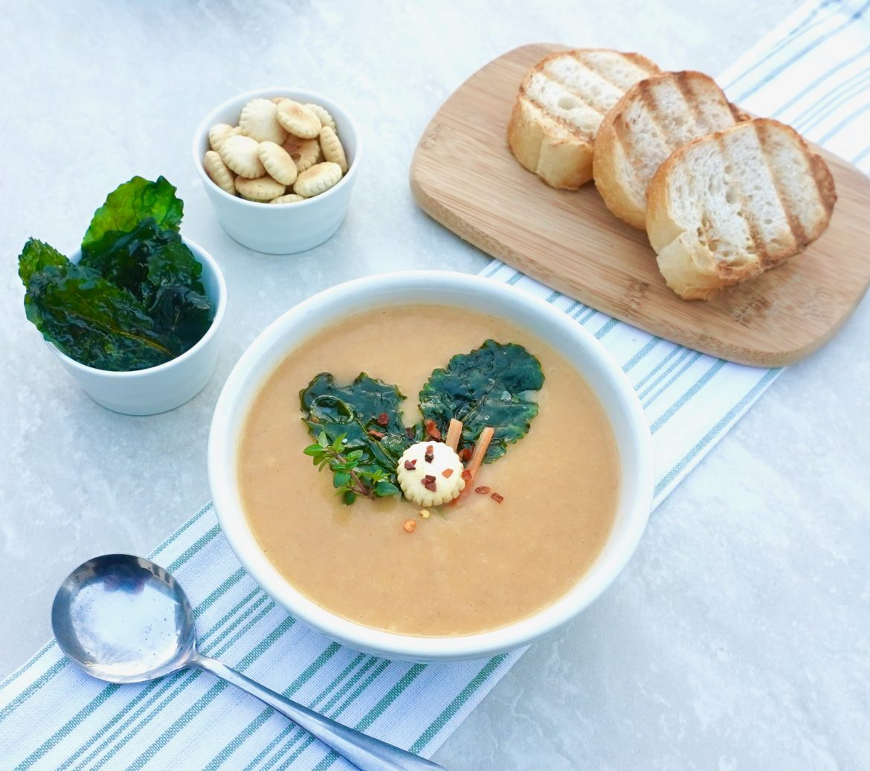 Turnip Crispy Kale Soup