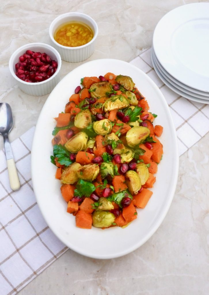 Roasted Butternut Brussel Sprout Salad
