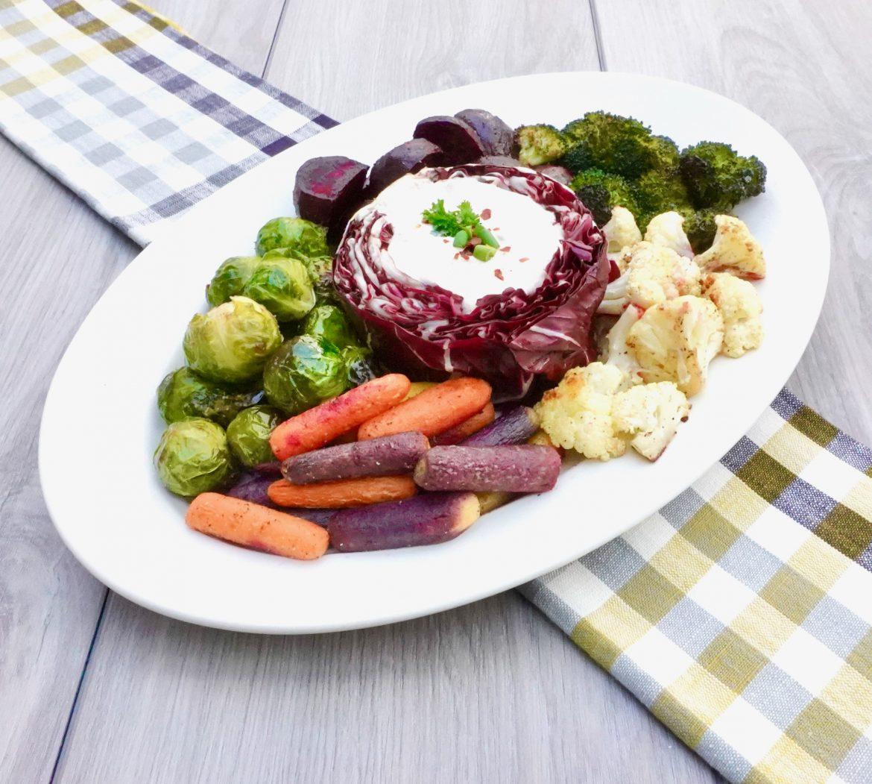 Roasted Vegetable Crudité Platter