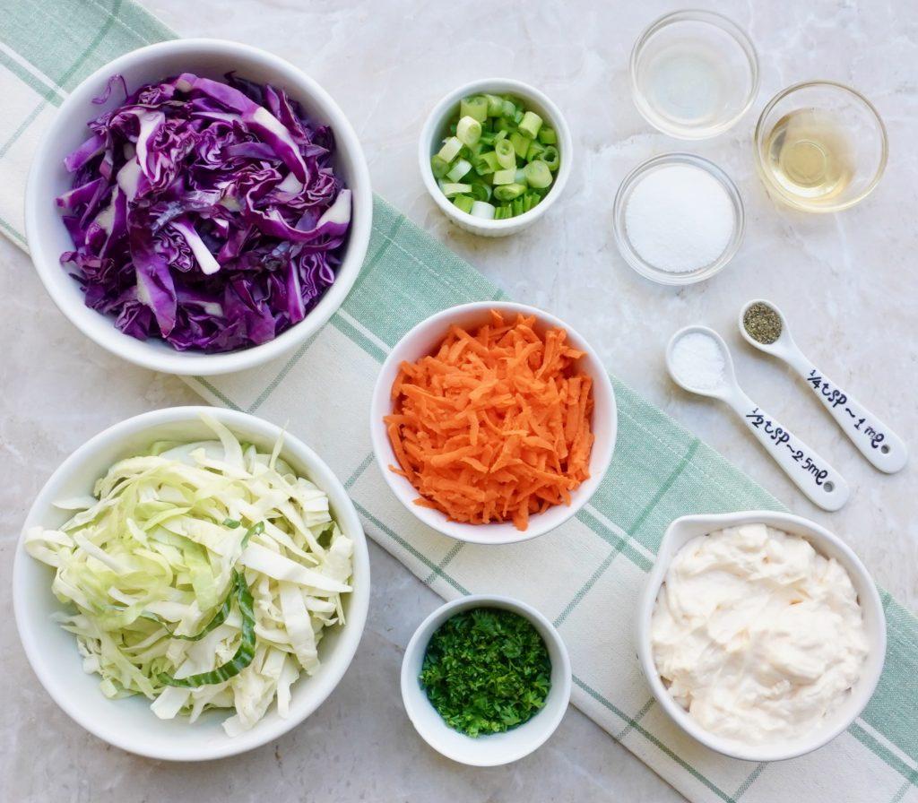 Tri Color Coleslaw