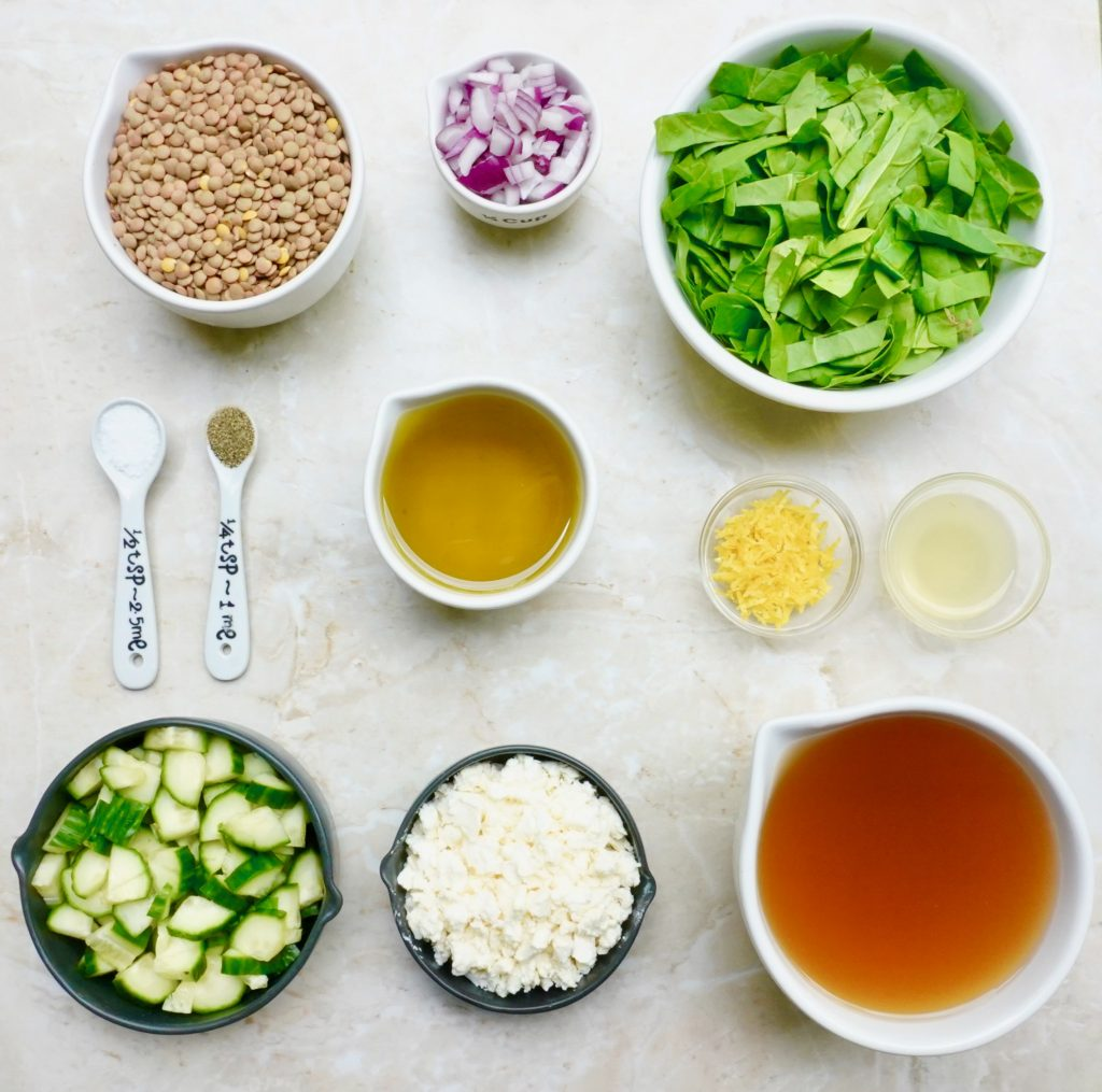 Lentil Spinach Salad