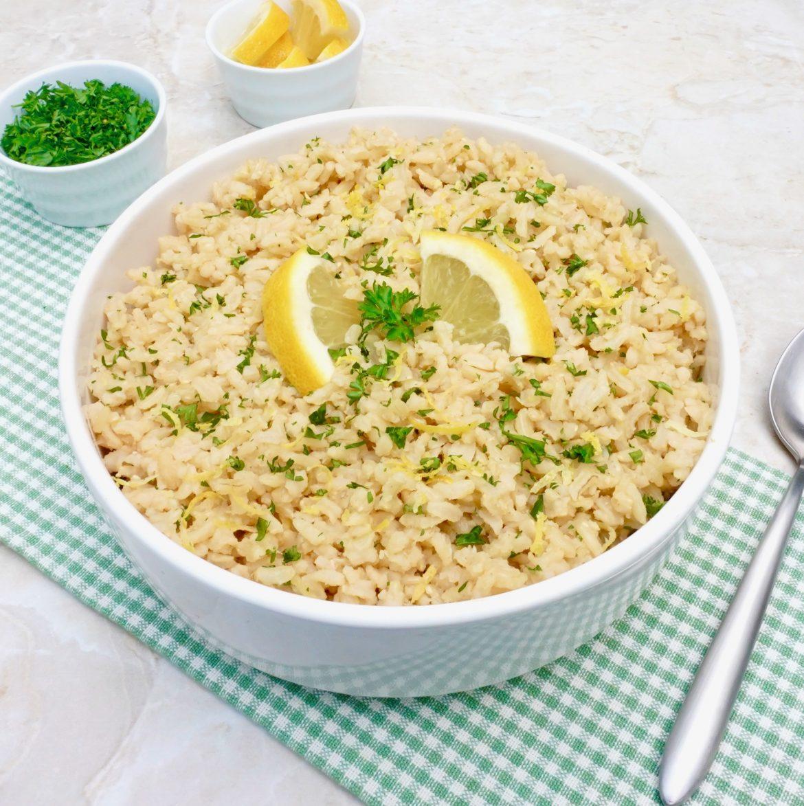 Lemon Parsley Brown Rice