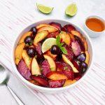 Honey Lime Stone Fruit Salad