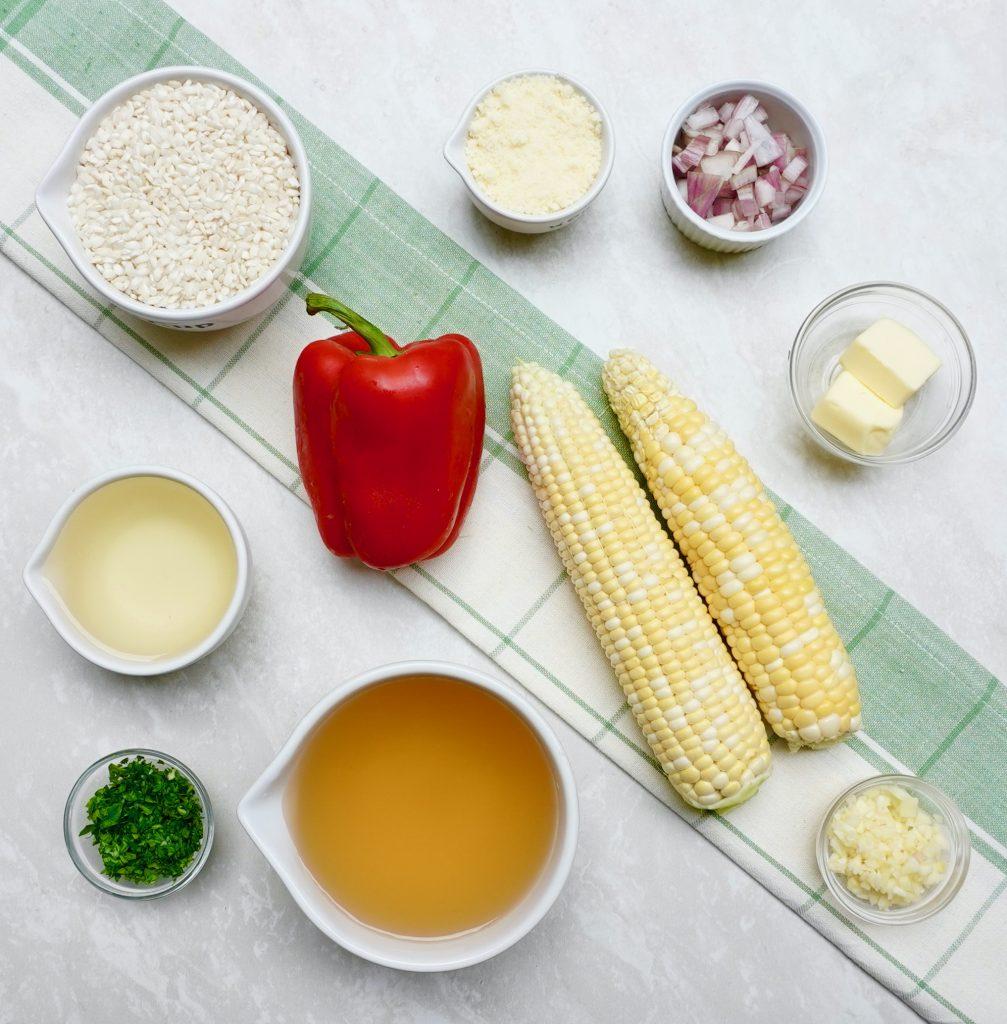 Red Pepper Corn Risotto