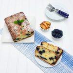 Blueberry Peach Ricotta Cake